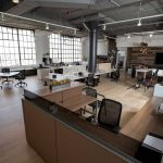Gebrauchte Büromöbel im Bürocontainer
